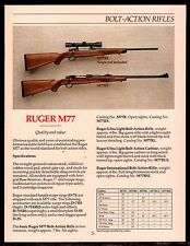 1992 RUGER M77 M77RL, M77RS Bolt-Action Rifle AD w/specs