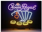"""New Crown Royal Poker Ace Neon Sign Beer Bar Pub Gift 17""""x14"""""""