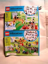 LEGO EDUCATION RARE  - LOT D'ENSEMBLES DE PERSONNAGES ET ACCESS. MAGIE + VILLE