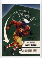 San Francisco 49ers v Los Angeles Rams **RARE** 1952 Program Tittle Van Brocklin