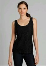NWT Guess by Marciano black lace tank top size XS