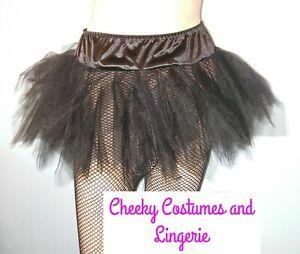 Petticoat Tutu Short Black Angel Fairy Witch Sizes 8-10  10-12