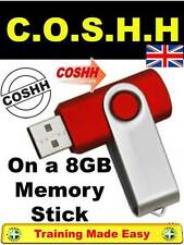 COSHH - Chemicals Health and Safety Construction Lab Training 8GB Memory Stick