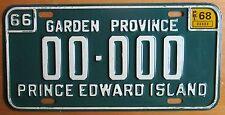 Prince Edward Island 1968 SAMPLE License Plate # 00-000