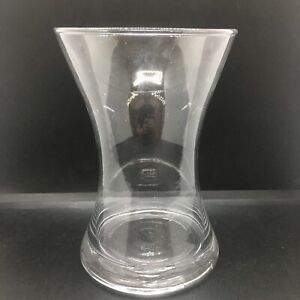 Clear Plain Glass Wide Trumpet Centrepiece Vase 20 Cm Candle Holder