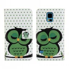 for Samsung Galaxy S5 Sleep Owl Design Leather Wallet Card Case Cover Stand