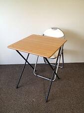 Plegable examen Class Room Snack almuerzo Camping Laptop Café Bistro Mesa Y Silla