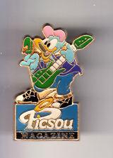 RARE PINS PIN'S .. DISNEY FRANCE ANCIEN VINTAGE 1990 PRESSE PICSOU MAGAZINE ~14