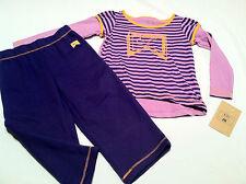 new~girls NIKE outfit set long sleeve shirt pants size 18 months purple orange