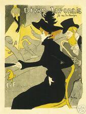 Art Nouveau Style Advertising Print 'Divan Japonais'