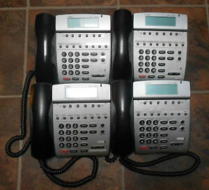 Lot of 4 NEC Dterm 80 Telephones DTH-8D-2 (BK) TEL 780571 Tested 1 YEAR Warranty