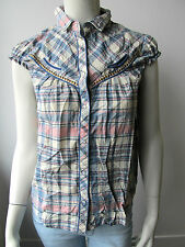 Pepe Jeans Damen Shirt Bluse Top Kariert Reno Beachi Neu S L