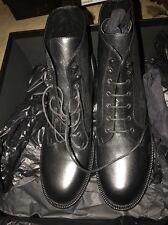 New YSL Saint Laurent Black Women's Patti Boots 42 (11)