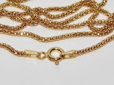 9ct Yellow Gold & Silver Ladies 2mm Popcorn Chain Necklace - 16 inch - 2.3g