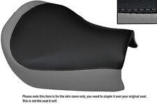 BLACK & GREY CUSTOM FITS SUZUKI TU 250 VOLTY FRONT LEATHER SEAT COVER
