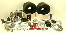 "Drift Trike, Go-Kart, Complete Axle Kit 40"" x 1-1/4"" Aluminum w/Brake (Silver)"