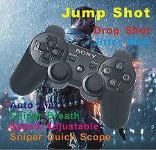 New Sony PS3 Modded Rapid Fire Black Controller Jitter COD Game Infinite Warfare