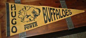 Hugo Buffaloes (Oklahoma) pennant rare Vintage High school football