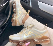 "Nike Air Vapormax 2019 ""Metallic Gold"" Size UK 3 EU 36 AR6632-101"