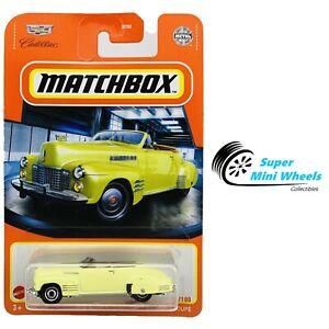 2021 Matchbox 1:64 - 1941 Cadillac Series 62 Convertible Coupe (Yellow) #34