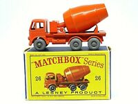 Matchbox Lesney No.26b Foden Cement Mixer In D2 Box (GREY PLASTIC WHEELS)