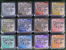 "Tim Holtz 12  3""x 3"" Distress Oxide Ink Pads by Ranger Lot 1"
