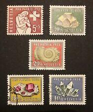 Schweiz Pro Patria 1958 Mi-Nr. 657/61 gestempelt