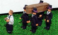 Funeral People A74 UNPAINTED N Gauge Scale Langley Models Kit People Figures