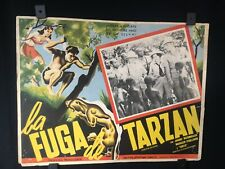 """Vintage TARZAN ESCAPES Authentic Mexican Lobby Card 16""""x12"""""""