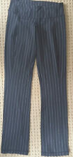 LULULEMON Black &  White PinStripe Yoga Pants with Belt Loops size 6 EUC Gym