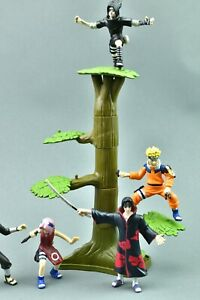 Naruto Display Tree With 5 Mini Figure Sakura Hokage Itachi Sasuke Mattel