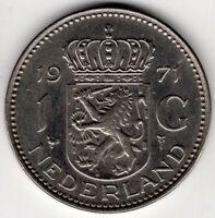 1971 NETHERLANDS 1 GULDEN NICE WORLD COIN