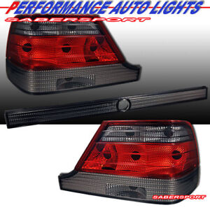 Set of 3pcs Red Smoke Taillights for 1997-1999 Mercedes W140 S-Class Sedan