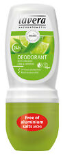 Lavera Refreshing Deodorant Roll On Organic Lime & Verbena 50ml Vegan *FREE P&P*