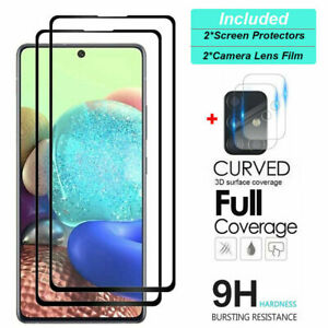 For Samsung Galaxy A51 A71 5G Tempered Glass Screen Protector + Camera Lens Film