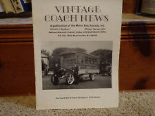 Vintage Coach News Magazine Winter-Spring 1983 List of Restored Coaches