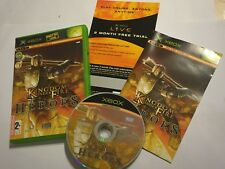 ORIGINAL XBOX GAME KINGDOM UNDER FIRE HEROES +BOX & INSTRUCTIONS COMPLETE PAL