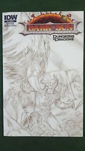 1:10 sketch variant DARK SUN #4 IDW dungeons and dragons B+W *CB5