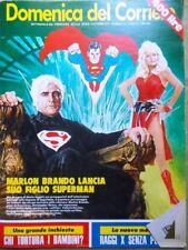 La Domenica del Corriere 6 Ottobre 1977 Superman Garbo Grillo Brando Reeve Raggi