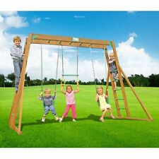 Creative Playthings Classic Swing Set with Top Ladder, Green