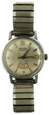Vintage Gruen Precision Automatic Day Date Watch 34mm Stainless Steel Autowind