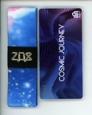 Medium ZOX GOLD Strap COSMIC JOURNEY Wristband with Card Reversible