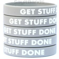5 Get Stuff Done Wristbands - Color Filled Modivation Silicone Bracelet Bands