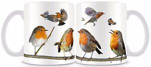 Robin Bird Mug 11oz  Red Breast