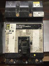 Square D Molded Case Circuit Breaker 20A Fa36020