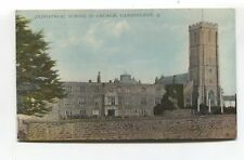Cannington, Somerset - Industrial School & Church - 1916 used postcard