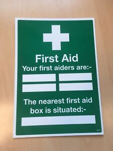 First Aid Signage - 'Your First Aiders Are' - First Aid Sign