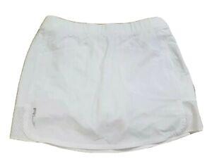 RLX Ralph Lauren Tennis Golf Skort Skirt Women's Small White Stretch Performance