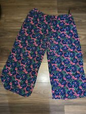 Floral Cropped Summer Lounge Pants Size 20