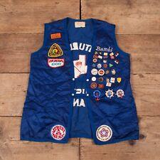 "Mens Vintage 1970s AMA American Motorcycle Association Vest Small 36"" R15698"